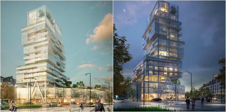 Luminous, Transparent Mixed Use Tower Will Mark the Skyline of Saint-Malo, France, Courtesy of a/LTA Architects