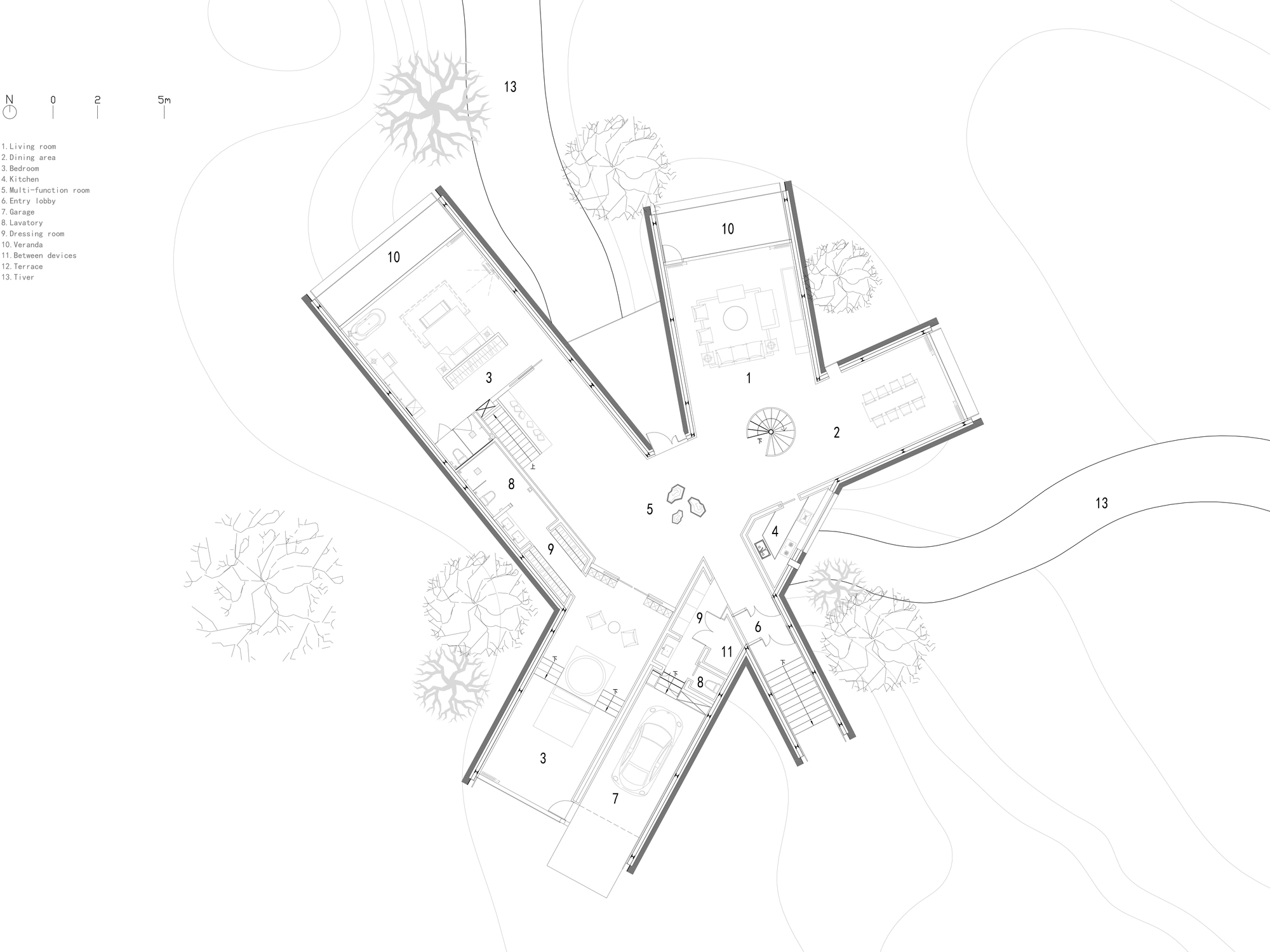 Plan Dressing En U gallery of grow with the forest valley villas / origin