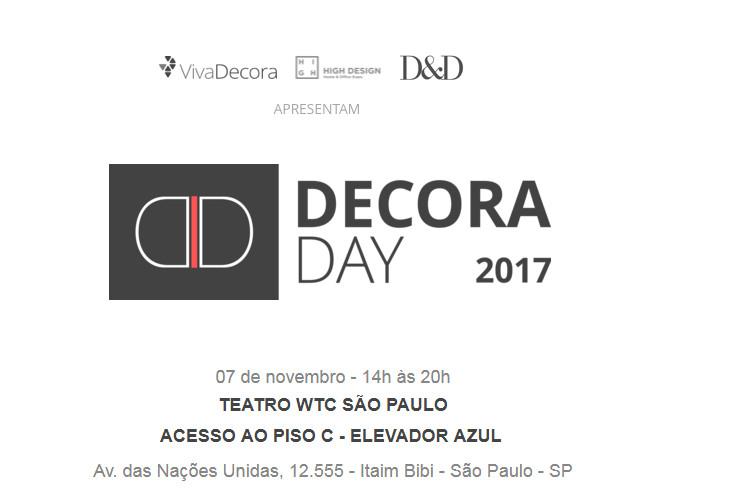 Decora Day 2017, Eleito o melhor evento de 2016 pelos lojistas do D&D Shopping, a primeira edição reuniu mais de 100 marcas e a previsão deste ano é aumentar esse número em 50%