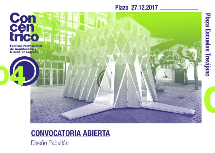Concurso de diseño y realización del pabellón de información de Concéntrico 04 en Plaza Escuelas Trevijano, Pabellón Concéntrico 04
