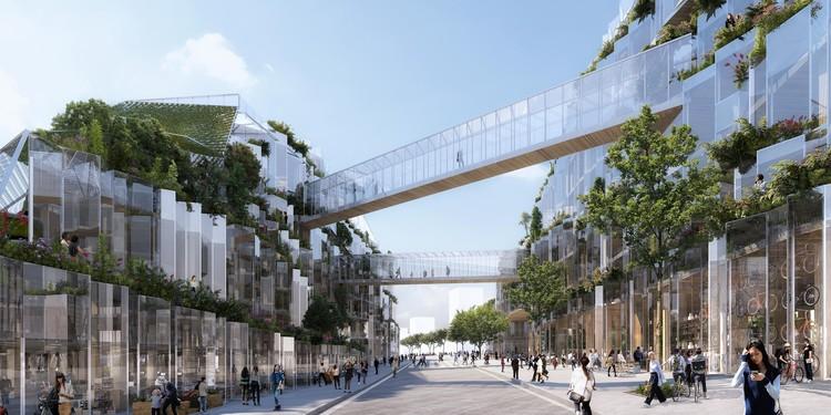 Triptyque Architecture é premiado no concurso Inventons la Metropole de planejamento urbano, © Triptyque