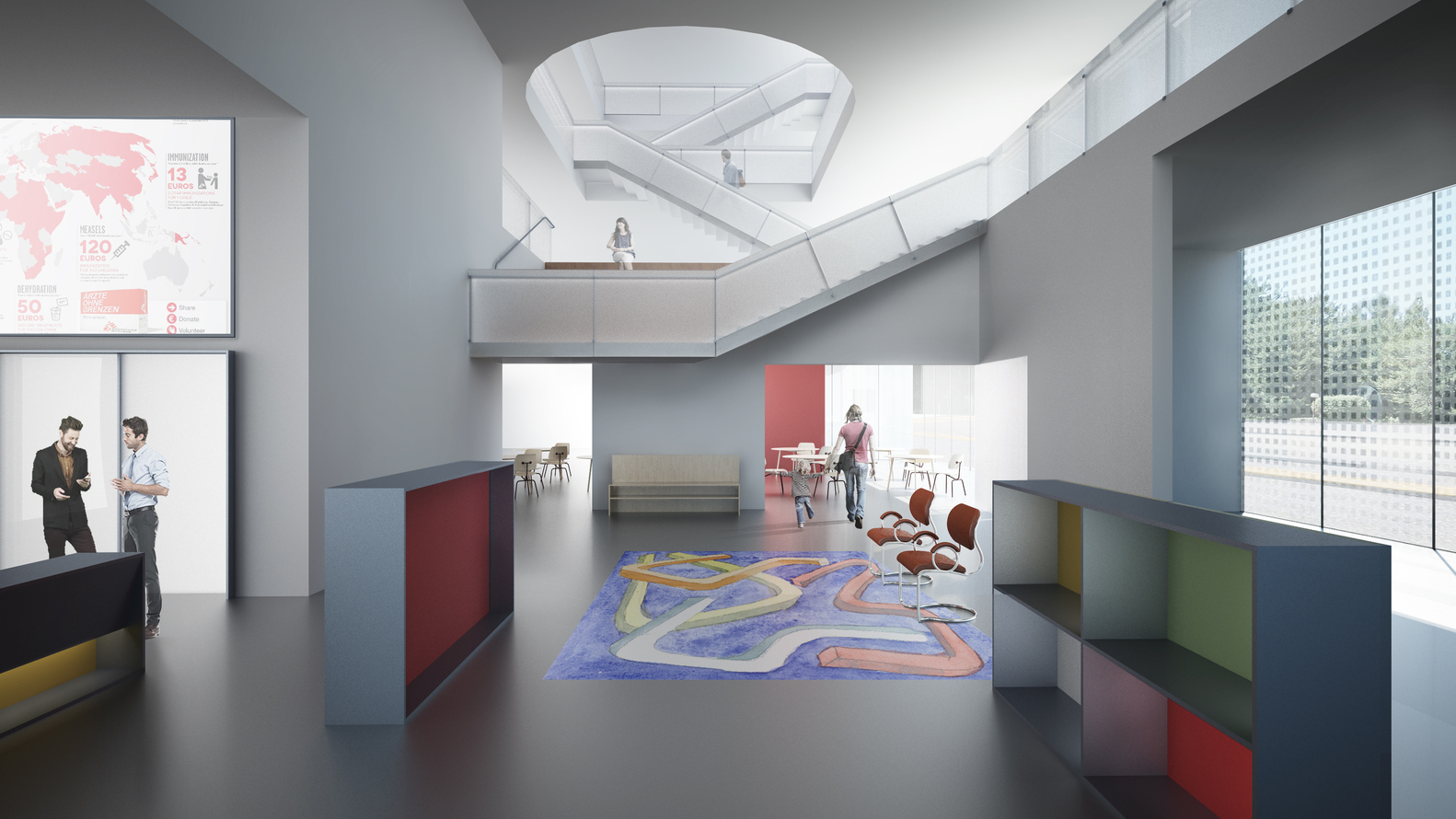 office foyer designs. Steven Holl Architects Designs Colored Photovoltaic Glass Building For Doctors Without Borders\u0027 Geneva Office, Office Foyer F