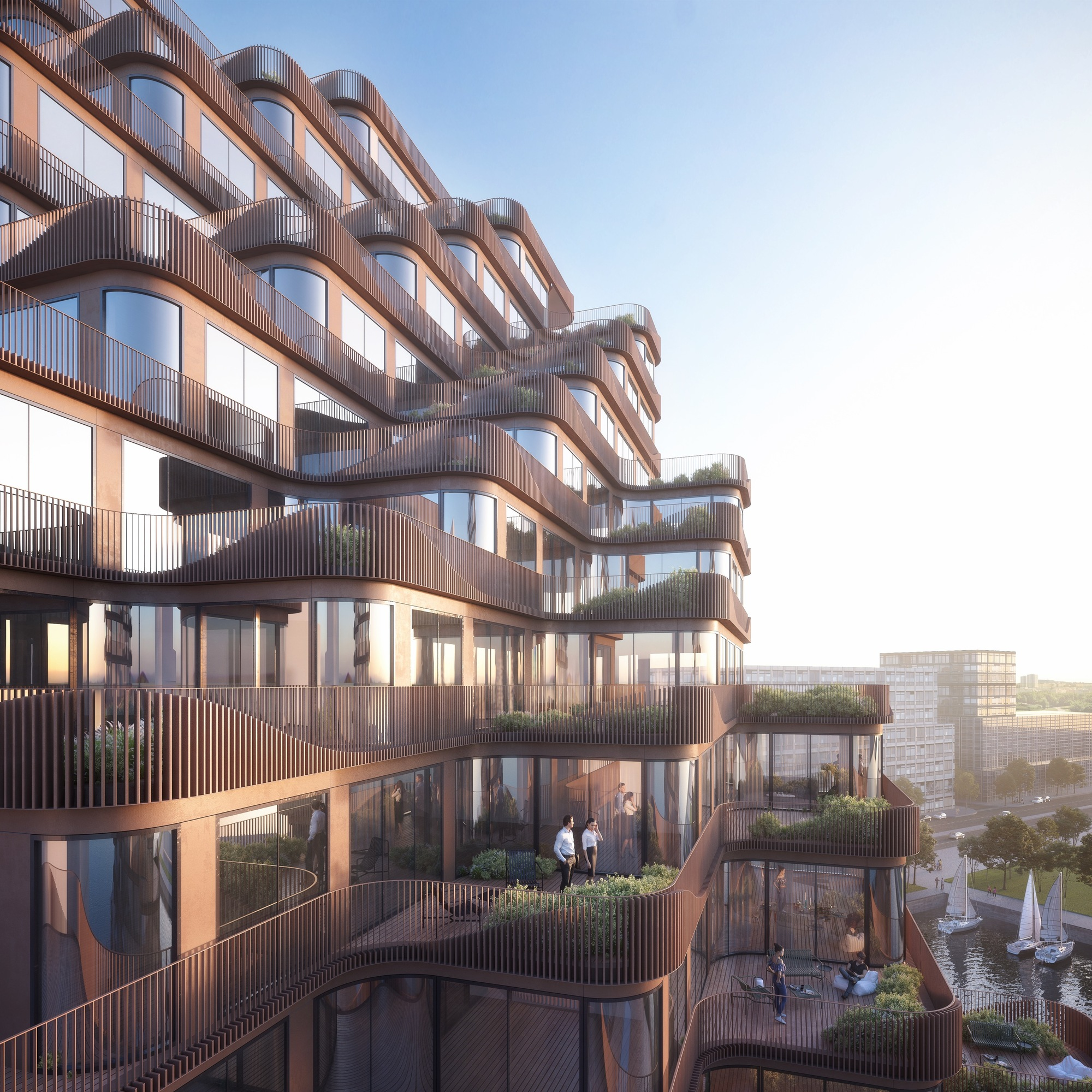 Gallery Of 3XN Reveals Waving Mixed-Use Building Located