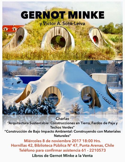 Conferencias de Gernot Minke yVictor A. Soto-Leiva en Punta Arenas, Victor A. Soto-Leiva