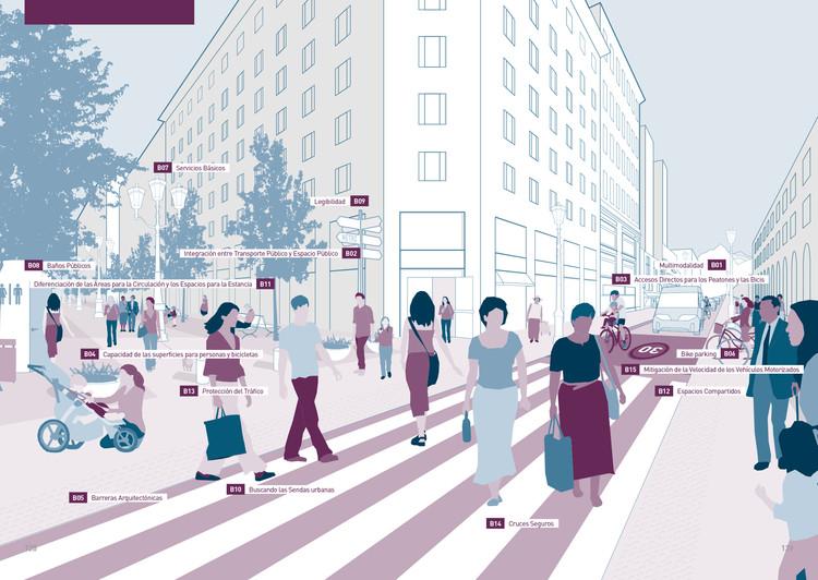 MINVU y Gehl presentan esta guía descargable sobre análisis y diseño de espacio público, 5 ámbitos de actuación y 80 recomendaciones de diseño: Accesibilidad y Circulación. Image Cortesía de MINVU
