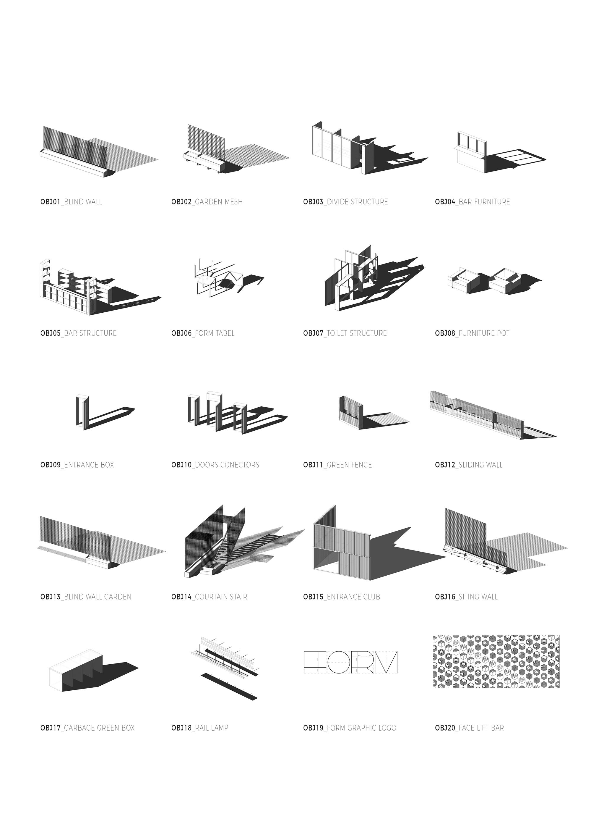 Gallery Of Rehabilitation_vl173 Cra De 30 # Schema De Meuble Dimension
