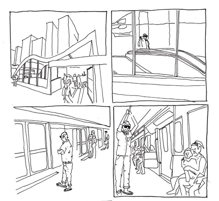 """""""Do lirismo ao caos"""": estudante desenvolve história em quadrinhos sobre temas urbanos, Cortesia de Guilherme Paschoal"""