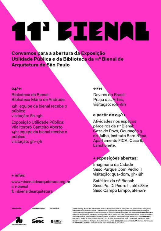 11ª Bienal de Arquitetura de São Paulo inaugura mais duas exposições