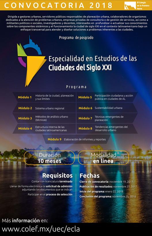 Especialidad en Estudios de las Ciudades del Siglo XXI , El Colef