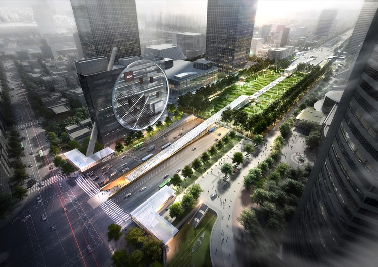 Dominique Perrault's Crystalline Glass Scheme Wins Competition for Underground Multi-Modal Hub in Seoul, © Rayus, Dominique Perrault Architecte, adagp