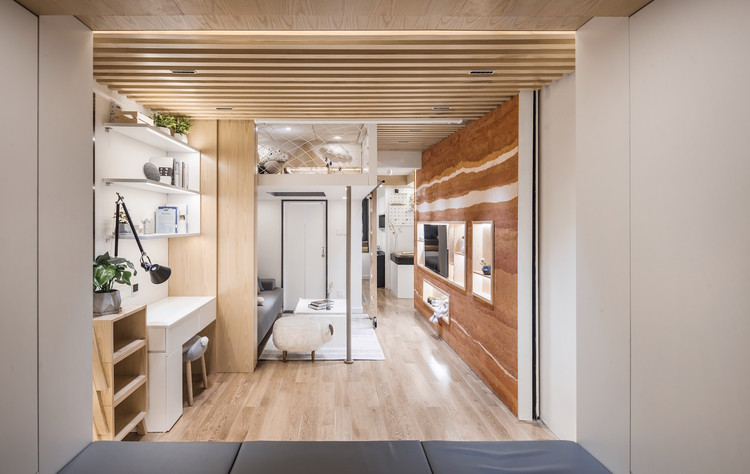 A House within Thirteen Steps / Limu Design Studio, Interior space