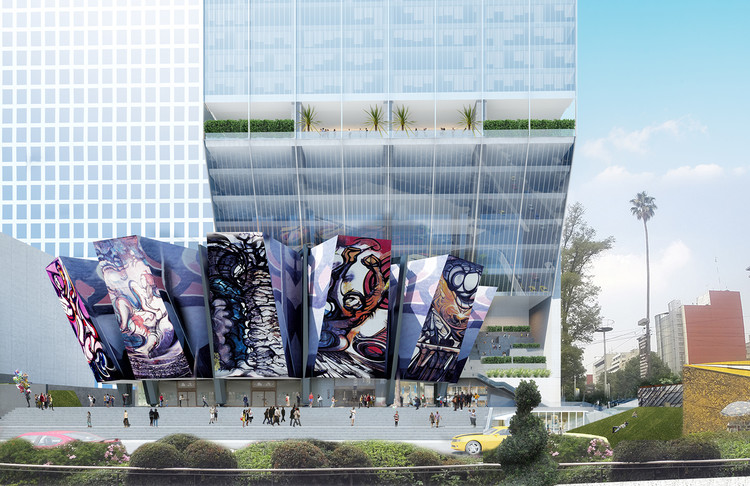 New Sleek, Slender Tower by BNKR Will Enhance The World's Largest Mural, Courtesy of BNKR