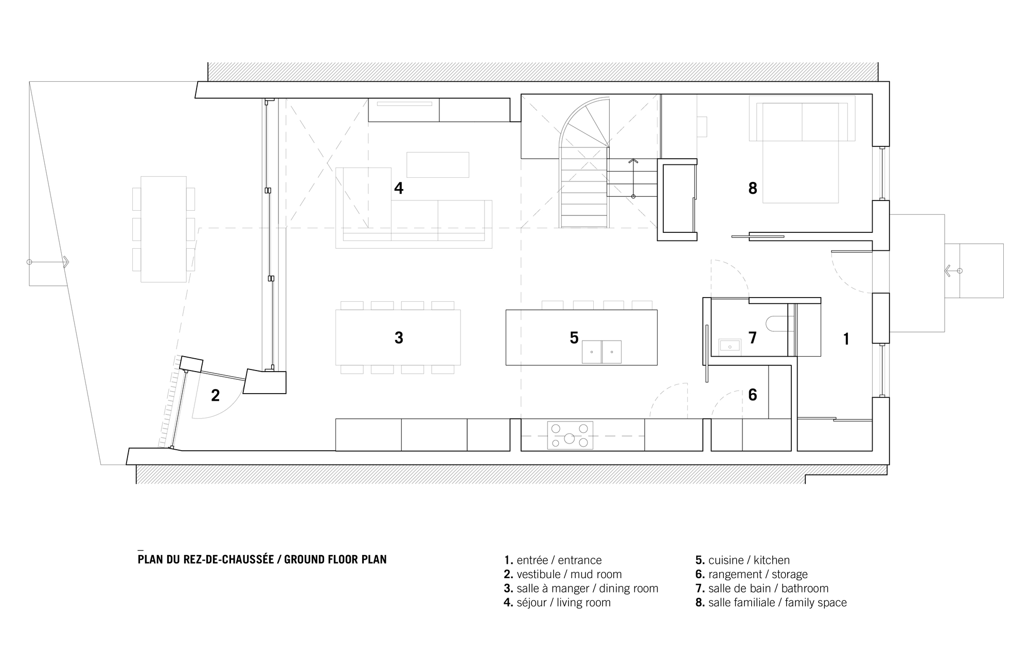 De La Roche Residence / NatureHumaine. Ground Floor Plan