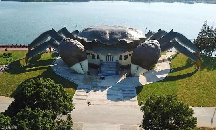 Novo Centro de Ecologia da China é construído na forma de um caranguejo gigante, via ChinaDaily