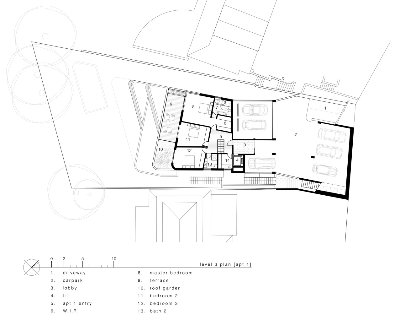 Gallery Of The Triplex Apartments Luigi Rosselli 29 Car Lift Schematic Apartments3rd Floor Plan