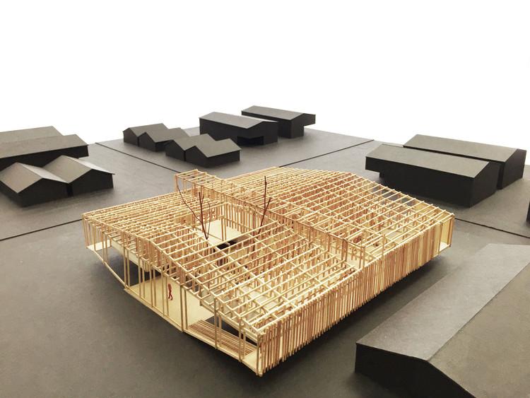 De la poética a la eficiencia modular: exposición en Chile presenta las posibilidades tectónicas de la madera, Modelo. Image Cortesía de Escuela de Arquitectura USS Puerto Montt