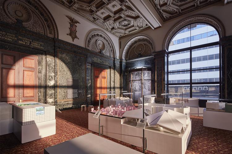 En 'Horizontal City', 24 arquitectos reinterpretan los interiores arquitectónicos en la Bienal de Arquitectura de Chicago 2017, Vertical City / GAR Hall. Image © Tom Harris
