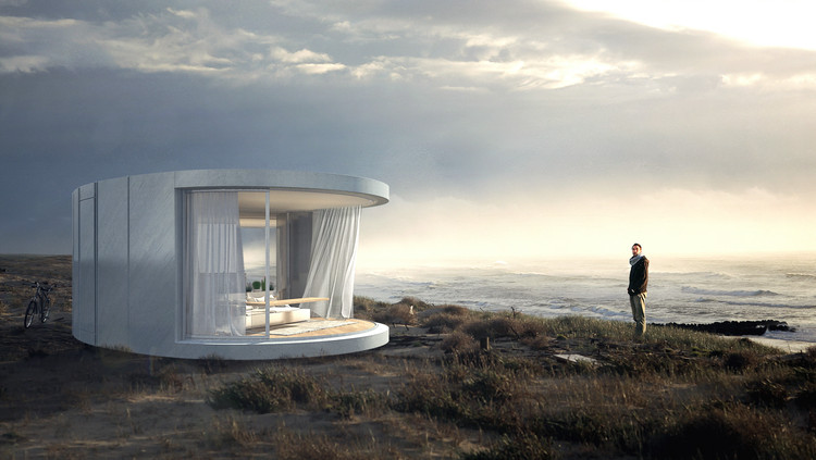 Take In The Views With This Prefabricated Curved Glass Sliding Doors