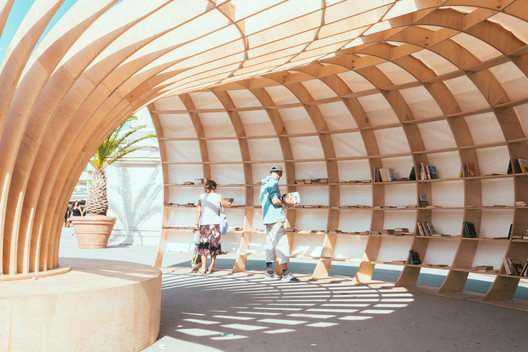 Parametric Design Helped Make this Street Library Out of 240 Pieces of Wood