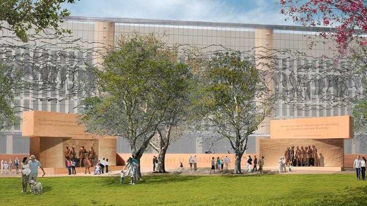 Memorial Eisenhower de Frank Gehry começa a ser construído em Washington , © Dwight D. Eisenhower Memorial Commission