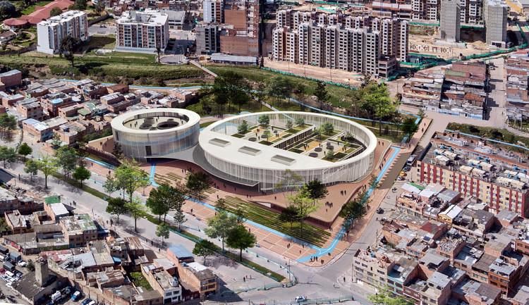 Espacio Colectivo Arquitectos, tercer lugar en diseño del Colegio Argelia II y Centro de la Bici, Cortesía de Espacio Colectivo Arquitectos