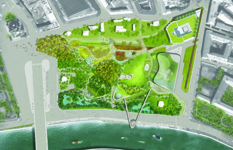Parque zaryadye diller scofidio renfro archdaily brasil for Plantas ornamentales para parques