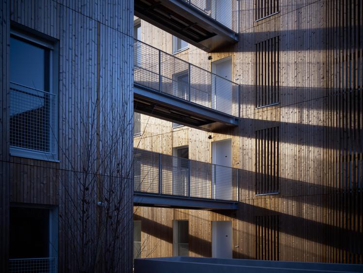 Chauveau - 26 Viviendas Sociales / ODILE+GUZY architectes, © David Foessel