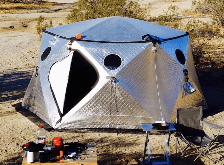 Prefab Pop-Up Shelter Designed for Burning Man and Perfected for Disaster Relief, via Advanced Shelter Systems