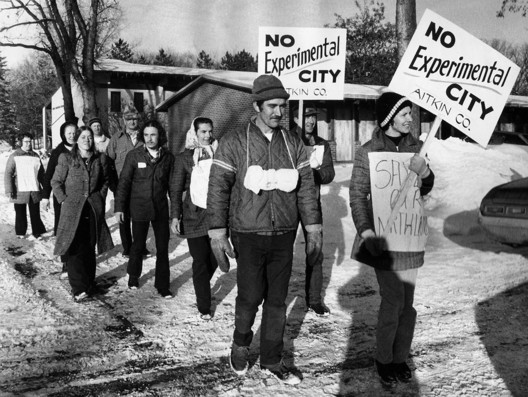 Protestors from rural Swatara, Minnesota march 200 miles to the Capitol in St. Paul; 1973. Image Courtesy of the Minnesota Historical Society