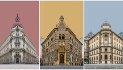 Los collages fotográficos de Zsolt Hlinka retratan los edificios de Budapest en perfecta simetría