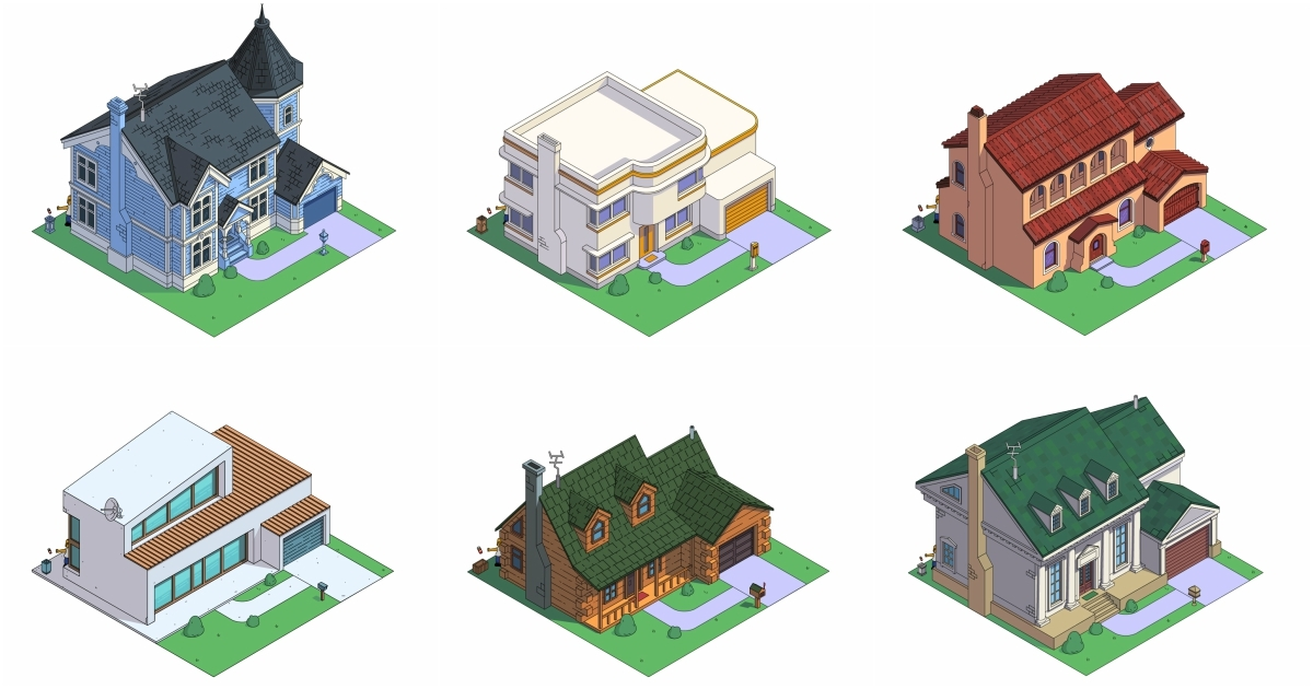 The Simpsons' Home As It Would Look In 8 Popular Architectural Styles