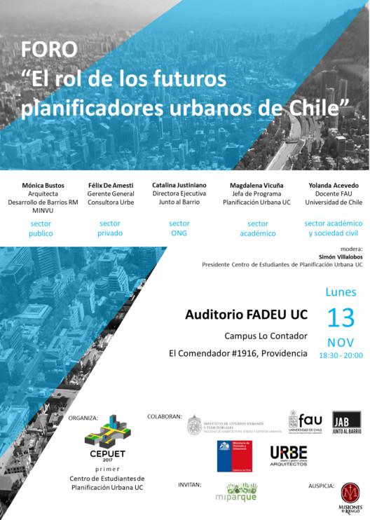 El rol de los futuros planificadores urbanos de Chile