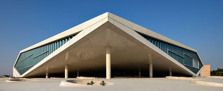 OMA's Qatar National Library Opens to the Public, Qatar National Library. <a href='http://https://www.facebook.com/TheQatarNationalLibrary/photos/a.777400588989497.1073741838.436689453060614/1548283765234505/?type=3&theater'>via Facebook</a>