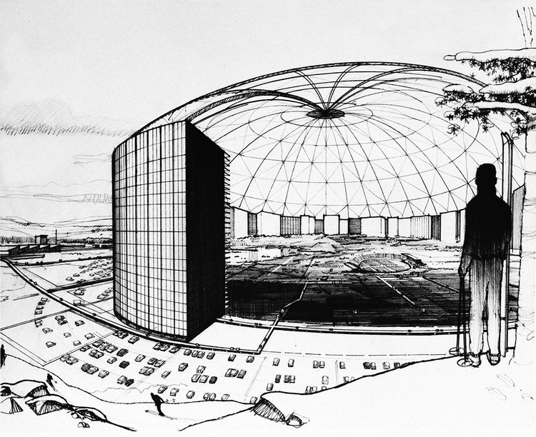 Minnesota's Experimental City of the Future that Never Got Built, Conceptual drawing of MXC's primary domed enclosure, proposed to be a mile wide in early discussions, but eventually scaled back. Image Courtesy of The Experimental City Documentary
