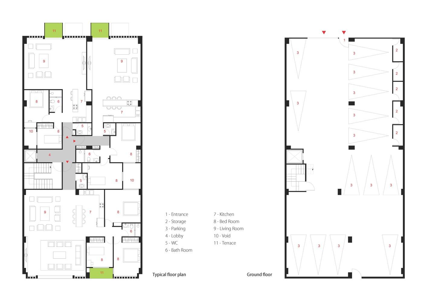 residential plan Gallery of ELKA Residential Building / DAAL Studio   ELKA Architects ...