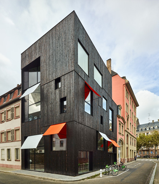 Offices and housing Strasbourg  / Dominique Coulon & associés, © Eugeni Pons