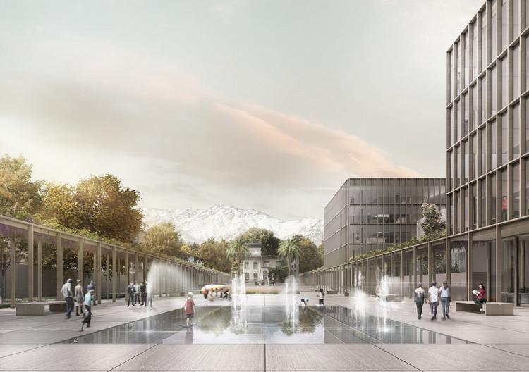 B+V Arquitectos + CHEB Arquitectos + François Jullien, mención honrosa concurso edificio municipal Providencia y su plan maestro , Cortesía de Equipo Mención Honrosa