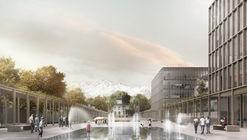 B+V Arquitectos + CHEB Arquitectos + François Jullien, mención honrosa concurso edificio municipal Providencia y su plan maestro