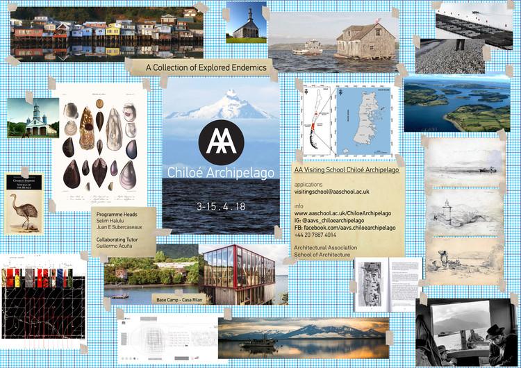 AA Visiting School Chiloé Archipelago, Poster promocional diseñado por Selim Halulu