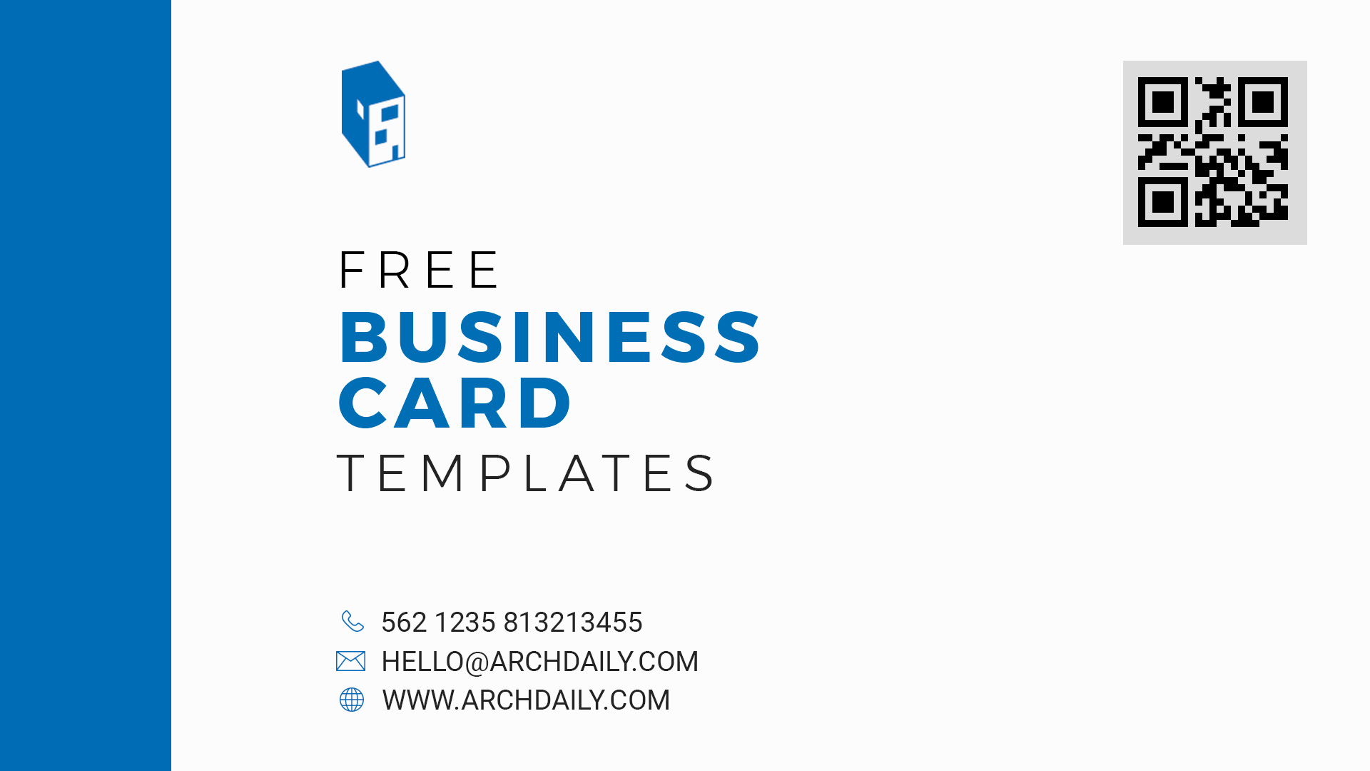 gallery of free business card templates for architects 2