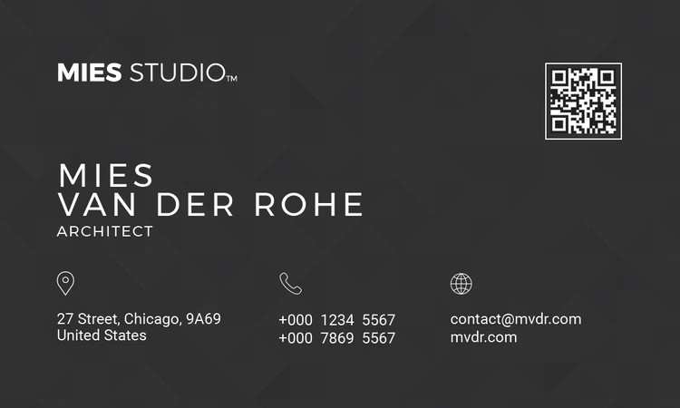 via - Architect Business Card