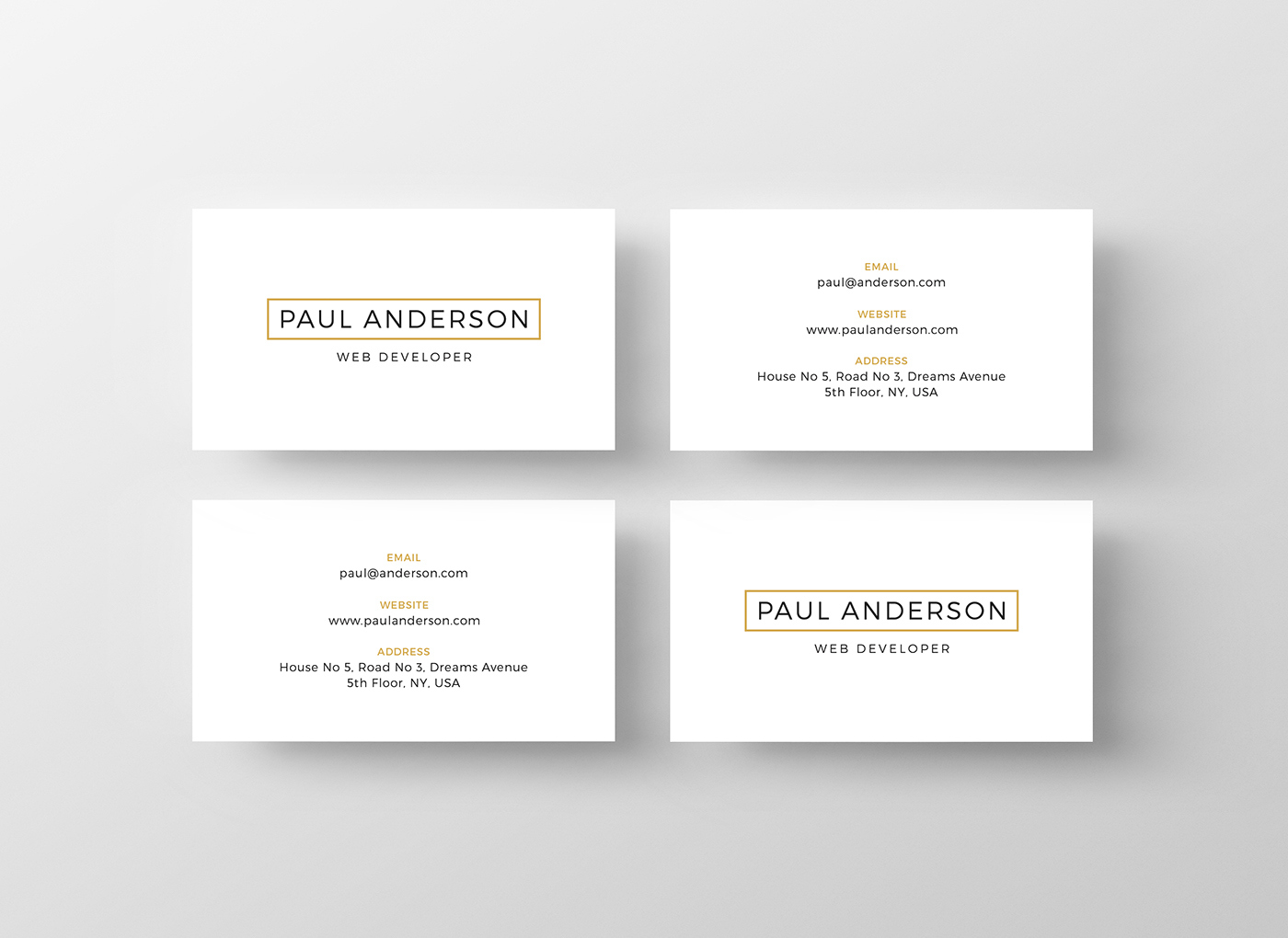 Gallery Of Free Business Card Templates For Architects
