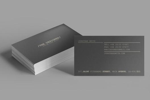 via <a href='https://www.behance.net/gallery/29443111/Minimal-Business-Card-'> Behance</a>