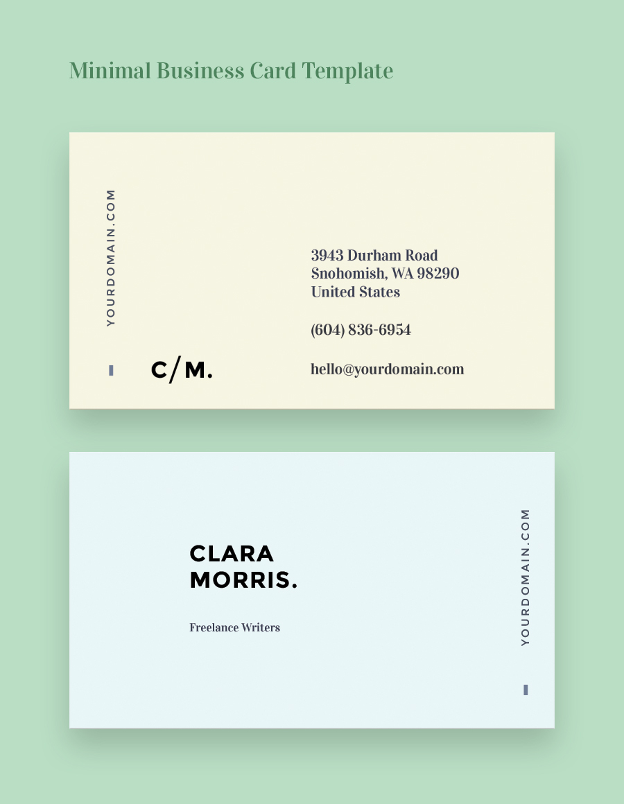 Gallery Of Free Business Card Templates For Architects 11