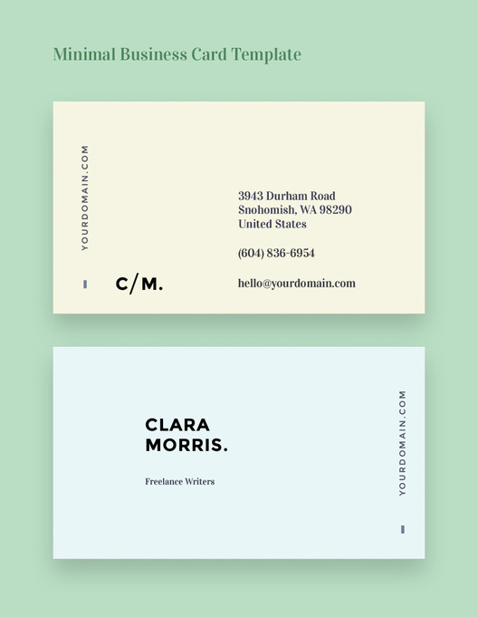 Free business card templates for architects archdaily minimal business card template save this picture via a fbccfo Choice Image