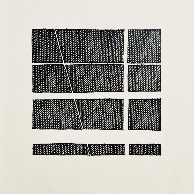 These Drawings Use Just 5 Lines to Create Beautiful Compositions , Roberto de Oliveira Castro. Image Courtesy of DailyDose