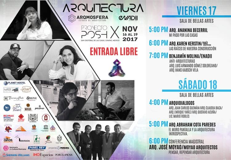 Ciclo de conferencias Arquitectura, Festival Proyecto Posh X