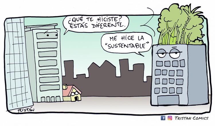 La arquitectura 'sustentable' de las terrazas verdes en 5 tiras cómicas, por Tristán Comics, Cortesía de Tristán Comics