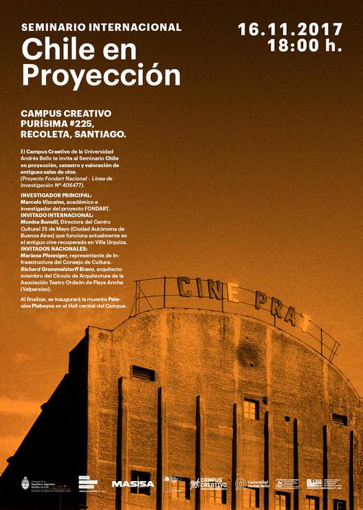 Seminario Internacional 'Chile en proyección: inventario y valoración de antiguas salas de cine' , Cortesía de Campus Creativo UNAB