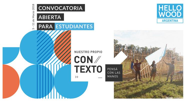 Hello Wood Argentina 2018: convocatoria abierta para estudiantes, vía TACADI